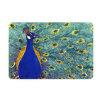 Caroline's Treasures - Bird - Peacock Kitchen or Bath Mat 20 x 30 - Kitchen or Bath Comfort Floor Mat This mat is 20 inch by 30 inch. Comfort Mat / Carpet / Rug that is Made and Printed in the USA. A foam cushion is attached to the bottom of the mat for comfort when standing. The mat has been permanently dyed for moderate traffic. Durable and fade resistant. The back of the mat is rubber backed to keep the mat from slipping on a smooth floor. Use pressure and water from garden hose or power washer to clean the mat. Vacuuming only with the hard wood floor setting, as to not pull up the knap of the felt. Avoid soap or cleaner that produces suds when cleaning. It will be difficult to get the suds out of the mat.