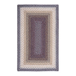 """Nourison - Nourison Craftwork KRA01 2'3"""" x 3'9"""" Violet Area Rug 12640 - In moody hues of plum, violet, lilac, beige, and brown, this casually chic braided rug conjures up images of an inviting alpine ski chalet for a vacation-like vibe that lasts year round. Expertly crafted to last for years."""