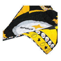 Sports Coverage - NFL Pittsburgh Steelers 4 Piece Football Crib Bedding Set - Features: