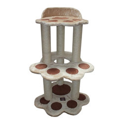 """Majestic Pet Products - 37.5"""" Casita - Fur - Majestic Pet Products 37.5"""" Casita Cat Tree is covered in a honey colored Faux Fur with Sisal Rope covered posts, that will withstand the toughest claws. This beautiful playground features two large cats paw platforms with a porthole entrance to the upper levels, and an elevated cats paw perch. Our"""" Casita Cat Tree assembles in minutes with simple step by step instructions and tools provided."""