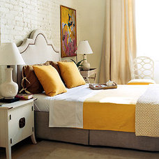Eclectic  dominomag- eclectic yellow bedroom