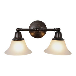 Premier - Two Light 18 inch Vanity Fixture - Oil Rubbed Bronze - AF Lighting 617289 18in. W by 9 -1/4in. H by 8-3/8in. Proj. Sonoma Lighting Collection 2 Light Vanity, Oil Rubbed Bronze.