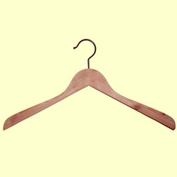Proman Products - Cedar Concave Coat Hanger - Cedar Concave Coat Hanger 12 pcs / case