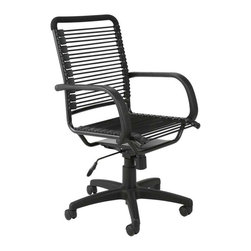 Eurostyle - Eurostyle Bungie High Back Office Chair in Black & Graphite Black - High Back Office Chair in Black & Graphite Black belongs to Bungie Collection by Eurostyle Designed to fit your seat. And your back. And your workstyle. With natural ventilation, the Bungies turn long hours of work into the comfort zone. No napping! Office Chair (1)