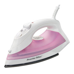 Hamilton Beach - Non-Stick Iron Pink - From Proctor-Silex, this iron features a non-stick soleplate, automatic shutoff, vertical steam and spray/blast.