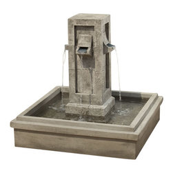 Campania Fountain - Pallisades Fountain - Self-contained fountain that only requires access to electricity and a level surface to install.