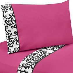 Sweet Jojo Designs - Isabella Pink 3-Piece Twin Sheet Set by Sweet Jojo Designs - The Isabella Pink 3-Piece Twin Sheet Set by Sweet Jojo Designs, along with the  bedding accessories.