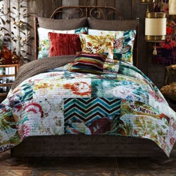 Tracy Porter - Tracy Porter Poetic Wanderlust Rose Boheme Michaila Pillow Shams - Create sophisticated layers in the same lovely look as the Michaila quilt with these pillow shams.