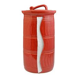 Paper Towel Holder - Glaze Color - Candy Apple Red