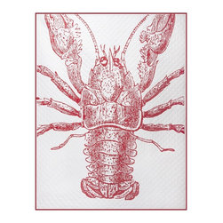 Lobster Quilted Throw - Cuddle up with this crustacean quilted throw on a cool summer evening.