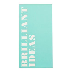 Brilliant Ideas Large Notepad - Inspire your loved one to keep track of all those to-dos, funny quotes and of course, brilliant ideas with this darling graphic notebook.