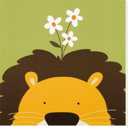 Artcom - Peek-a-Boo IX, Lion by Yuko Lau - Peek-a-Boo IX, Lion by Yuko Lau is a Stretched Canvas Print.