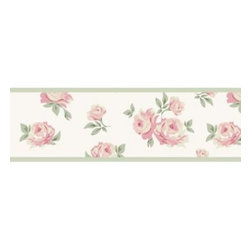 Sweet Jojo Designs - Sweet Jojo Designs Riley's Roses Wallpaper Border - Add a splash of color throughout your child's room with the charming floral wall paper border. Each pre-pasted and washable roll provides a subtle, unifying visual touch to your Sweet Jojo Designs Riley's Roses room.