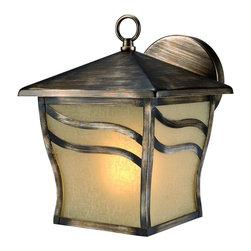 Parisian Bronze Outdoor Patio and Porch Exterior Light Fixture - Finish: Parisian Bronze