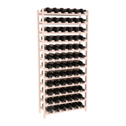 Wine Racks America - 72 Bottle Stackable Wine Rack in Ponderosa Pine, White Wash + Satin Finish - Four kits of wine racks for sale prices less than three of our 18 bottle Stackables! This rack gives you the ability to store 6 full cases of wine in one spot. Strong wooden dowels allow you to add more units as you need them. These DIY wine racks are perfect for young collections and expert connoisseurs.