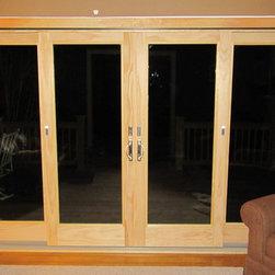 Andersen 4 Panel Door with Satin Nickel Hardware -
