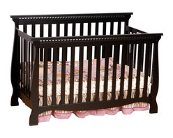 Stork Craft - Stork Craft Venetian 4-in-1 Fixed Side Convertible Crib in Black - Stork Craft - Cribs - 0458713B - Experience nursery luxury at its very best with the Venetian 4 in 1 Fixed Side Convertible Crib by Stork Craft.This is a classic crib with graceful elegant curves and timeless design. The construction of the Venetian is sturdy the finish is gorgeous the design is stunning and the value is impressive. With secure static side rails this piece provides the ultimate in stability and function. This crib will grow with your child as it converts from a full size crib to a toddler bed to a daybed to a full-size bed (bed rails not included). Set-up this timeless piece effortlessly with its simple easy to follow assembly directions. Complete your nursery look by adding a Stork Craft changing table chest dresser or glider and ottoman.