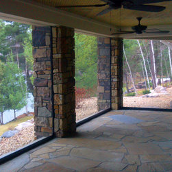 Titan Screen Gull Lake - Titan Screen installation from the lakes region of Minnesota is built in utilizing Textilene Super Screen for protection against insects, debris, wind and rain.