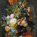 Vase of Flowers in a Niche, c.1725/35 | Huysum | Canvas Print - Condition: Canvas Print - Unframed