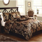 Lifestyles - Lifestyles Palms Comforter Set with Bonus Pillows - CS8303QN7-1300 - Shop for Bedding Sets from Hayneedle.com! Bring inspiration to the bedroom with this Lifestyles Palms Comforter Set with Bonus Pillows. The chocolate background is adorned with woven gold palm fronds for an art deco style. This set is made from 100% polyester and includes a comforter two shams a bed skirt and three decorative pillows. Dry clean only.About Pem AmericaMakers of high-quality handcrafted textiles Pem America Outlet specializes in bedding that enhances your comfort and emphasizes the importance of a good night's rest. Quilts comforters pillows and other items for the bedroom are made with care and craftsmanship by Pem America. Their products cover a wide range of materials styles colors and designs all made with long-lasting quality construction and soft long-wearing materials. Details like fine stitching embroidery and crochet decorations and reinforced seaming make Pem America bedding comfortable and just right for you and your family.