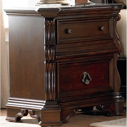 Arbor Place 2 Drawer Nightstand - Brownstone - It may be diminutive in stature, but the Arbor Place 2 Drawer Nightstand - Brownstone is big on style. The elegant carved details highlight the rich brownstone finish, creating the look of a finely-crafted European antique. Two drawers are just right for storing small items conveniently close at hand.About Liberty FurnitureEstablished in 1993, Liberty Furniture Industries, Inc. had seven employees and manufactured wood chairs and laminate table tops in a modest section of a warehouse in west Atlanta. Over the years, its scope has widened to include formal and casual dining furniture, accent furniture, and bedroom furniture. It now operates out of three main facilities in Atlanta, one brand-new facility in Chicago, and its first Asian office. As Liberty continues to grow, it searches for more ways to expand and offer more of what its customers want. Liberty is now one of the premier leaders in manufacturing and delivering quality furniture at exceptional value. Through its growth, it has remained a strong, family-oriented business that never compromises its values of dedicated customer service, a relentless pursuit of quality, and a devotion to enriching lives of its employees, its customers, and its community.