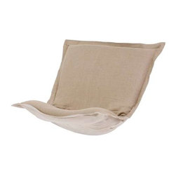 Howard Elliott Prairie Linen Natural Puff Chair Cushion - Au Natural. Extra Puff Cushions in Prairie Linen are a great way to rejuvenate your look without the expense of buying a whole new chair! Puff Cushions fit Scroll and Rocker frames. Because of its simplicity, the Prairie Linen Puff Cushion will fit right into any room of your home.