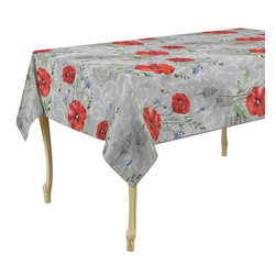 My Jolie Home - Coquelicot Tablecloth, 79x58 - Impress your guests with this colorful red flowers Spill-proof tablecloth. Our tablecloths are made of woven polyester, and are designed to be durable, wrinkle and stain resistant, and can be laundered countless times.