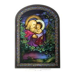 Summit - Tiffany Christman Eve Stained Glass - This gorgeous Tiffany Christman Eve Stained Glass  has the finest details and highest quality you will find anywhere! Tiffany Christman Eve Stained Glass  is truly remarkable.