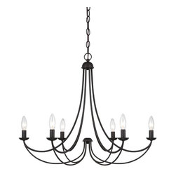 Quoizel Lighting - Quoizel Mrn5006 6 Light Up Lighting Chandelier - This up lighting chandelier from the Mirren collection features a minimal design which will fit in any home. This kind of dedication, integrity and quality not only goes into the design of their products, but its in the way they do business as well. In addition, Quoizel lighting features an excellent selection of the ever popular stained glass Tiffany lamps.