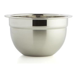 Stainless Steel .75-Quart Bowl - Timeless, all-purpose kitchen workhorses in durable stainless feature a dual finish contrasting matte exteriors with polished interiors. Dishwasher-safe bowls have flat bases to provide balance and stability for prep, mixing and serving.
