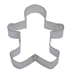 RM - Gingerbread Man B1054X Cookie Cutter - Gingerbread Man cookie cutter, made of sturdy tin, Size 5 in., Depth 7/8 in., Color silver