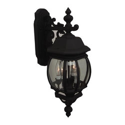 Craftmade - Pumpkin Pendant in Matte Black - Bulb Type: Candelabra. Max Watt: 3x60W. Glass Finish: Clear Beveled. Height: 23.75 in.. Width: 8.0 in.. Type of Fixture: Medium Wall Mount. Extension: 11.0 in.. Backplate (Width x Height): 4.5'x11.5 in.. Top to Outlet: 5.0 in.