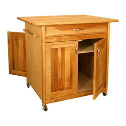 Catskill Craftsmen - Catskill Big Island WorkCenter - Cabinet Doors on Both Sides - This popular portable kitchen island sports over 7 square feet of work space plus cabinet storage that's accessible from both sides of the island. Model 63036