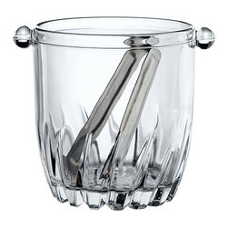 Mini Glass Ice Bucket with Tongs - When things in the office get tough, the tough reach for the ice bucket and an adult beverage. This petite ice bucket takes up very little space in the office or home bar, which means there's more room for your favorite libations.