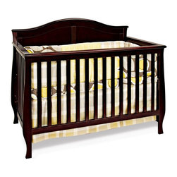 Child Craft - Child Craft Camden 4-in-1 Convertible Crib - Jamocha - F31001.07 - Shop for Cribs from Hayneedle.com! Topped by a soft arch and rich in other subtle details the Child Craft Camden 4-in-1 Convertible Crib - Jamocha converts from a crib to a day bed to a toddler bed with all included parts (toddler bed conversion stretcher rail is included - toddler bed guard rail sold separately) to carry you all the way through the toddler years. But it's not done yet. This crib can also convert to a complete full size bed with the addition of full size bed rails (sold separately). Crib is constructed from select hardwoods with a strong steel mattress support that can be adjusted to two heights. This crib is finished to perfection using a baby safe non-toxic Jamocha finish. Limited lifetime warranty. About FoundationsFoundations is a brand focused on the absolute safety and well being of all children and their products show it. Though used throughout the world by commercial customers Foundations products extend to use in the home as well.