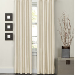 Maytex - Jardin Thermal Lined 84 inch Curtain Panel - This lovely faux silk fabric window curtain panel is thermal lined to block light and noise as well as saving energy from heat and cold. Solid color in faux silk adds luxury and elegance to any room.