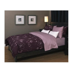 Daniadown Home - 270 Thread Count Duvet Cover - Swirl Passion (Double) - Choose Size: Double
