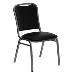 Flash Furniture - Hercules Series Stacking Banquet Chair With Black Vinyl And 1.5'' Thick Seat - S - Running out of places for people to sit is the pits. Never let it happen to you by stocking up on some of these chairs. They stack so they don't take up too much space when not in use, they're extremely durable and comfortable and they look better than the average banquet chair. Whatever the occasion, you'll have one less thing to worry about.