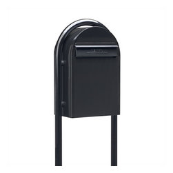 Bobi Mailboxes - USPS Bobi Classic Mailbox with Round Mailbox Post, Black - **This listing and listing price is for both the mailbox and the mailbox post.