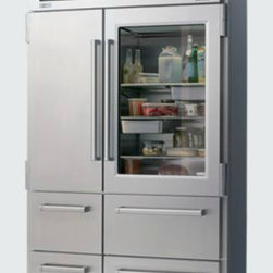 "PRO 48 with Glass Door - The Pro 48 Sub-Zero is the ""creme de la creme"" of refrigerators in my opinion. Even though I don't have a glass window, I still like to organize what is in my refrigerator with some flair."