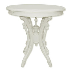 EuroLux Home - New Tea Table White/Cream Painted Hardwood - Product Details