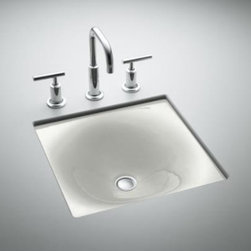 KOHLER - KOHLER K-2827-FF Iron/Tones Cast Iron Undercounter or Self Rimming Lavatory - KOHLER K-2827-FF Iron/Tones Cast Iron Undercounter or Self Rimming in Sea Salt