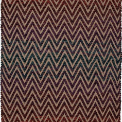 Jaipur Rugs - Naturals Geometric Pattern Rayon/ Jute Purple/Taupe Area Rug - A luxury range of accent rugs  in a variety of different weaves. Highly textural and eye catching, these rugs are made from multi yarn combinations and would complement  any stylish home envirionment Origin: India
