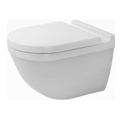"Duravit - Duravit 2225090092 White Starck 3 One Piece Round Wall Mounted Toilet - Product Features:  One-piece configuration provides a uniform look as well as simplifies installation Round bowl gives a classic look and feel Includes Durafit Concealed Fixation System (006500) Toilet seat sold separately (006381 or 006389) Wall mounted installation  Product Specifications:  Overall Height: 15-3/4"" (measured from the bottom of the base to the highest point on the toilet) Overall Length: 21-1/4"" (measured from the back of the tank to the front of the rim) Overall Width: 14-1/8"" (measured from the furthest point on the left to the furthest on the right) Bowl Height: 14"" (measured from the bottom of the base to the rim) Rough In: 8-5/8"""