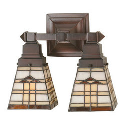 "Meyda Tiffany - Meyda Tiffany 98200 12"" W Arrowhead Mission 2 Light Wall Sconce - Add timeless class with the 12"" Width Arrowhead Mission 2 Light Wall Sconce by Meyda Tiffany. Decorate your home with this stylish wall sconce utilizing 60 watts per bulb and a pyramid shaped shade.Features:"
