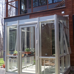 Clear Anodized Residential Greenhouse - Solar Innovations, Inc. // Greenhouses