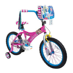 Fairy Tale High - Fairy Tale High 18 in. Girls Cinderella Bike Pedal Riding Toy Multicolor - 80934 - Shop for Tricycles and Riding Toys from Hayneedle.com! Fortunately the Fairy Tale High 18 in. Girls Cinderella Bike Pedal Riding Toy doesn't turn into a pumpkin at midnight. Painted rims and colored spokes make riding a blast and there's even a lovely princess messenger bag to hold a stash of snacks and other essentials. The steel frame and fork are covered by a lifetime warranty. This cruiser is fitted with a coaster brake and a rear hand brake for smooth controlled stopping. Training wheels adjust to keep up with her skill and confidence.About DynacraftEveryone at Dynacraft is committed to helping families bike smart and bike together. Based in American Canyon California Dynacraft is well known as an importer of affordable high quality bicycles for every member of the family. Dynacraft constantly keeps its eyes on both the future and our customers' ever changing needs. If it's not the latest in innovation and designed to the most exacting standards using top-of-the-line parts it's not Dynacraft.