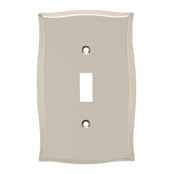 Liberty Hardware - Liberty Hardware 144045 Llylah WP Collection 3.27 Inch Switch Plate - A simple change can make a huge impact on the look and feel of any room. Change out your old wall plates and give any room a brand new feel. Experience the look of a quality Liberty Hardware wall plate. Width - 3.27 Inch, Height - 5.04 Inch, Projection - 0.22 Inch, Finish - Vintage Nickel, Weight - 0.32 Lbs.