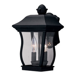 Designers Fountain - Designers Fountain Chelsea Traditional Outdoor Wall Sconce X-KB-2172 - You won't be able to take your eyes off of this Designers Fountain Chelsea Traditional Outdoor Wall Sconce once you see it hanging on your wall. It features a cast aluminum frame in a sleek, black finish and panels of clear beveled glass. This two-light fixture is sure to cast a soothing glow to create an inviting atmosphere in most any outdoor environment.