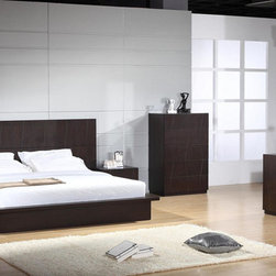 Elegant Wood Luxury Bedroom Furniture Sets - Milena modern bedroom set in luxury chocolate color. Unparalleled elegance and modern charm that is how one might describe this fantastic contemporary European design Bedroom Set Milena.